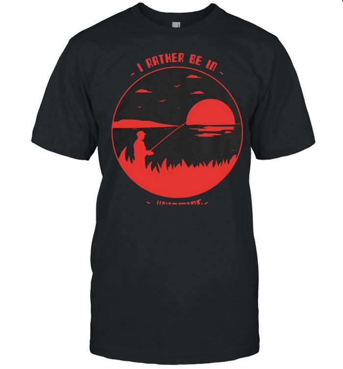 I Rather Be in Wyoming Fishing T-shirt Classic Men's T-shirt