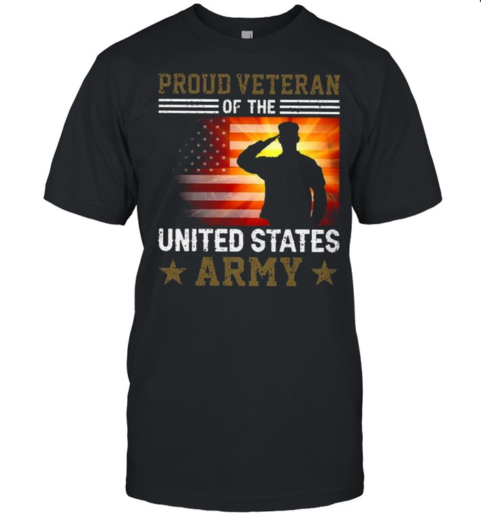 Proud Veteran Of The United States Army shirt Classic Men's T-shirt