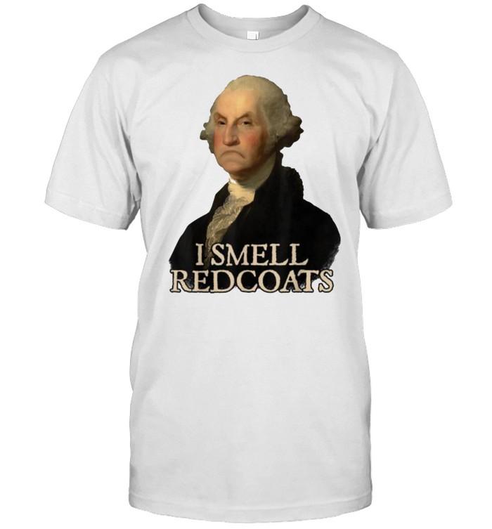 I Smell Redcoats George Washington Funny President Portrait  Classic Men's T-shirt