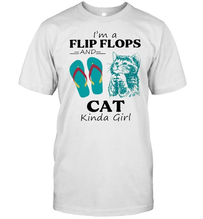 Im a flip flop and cat kinda girl shirt Classic Men's T-shirt