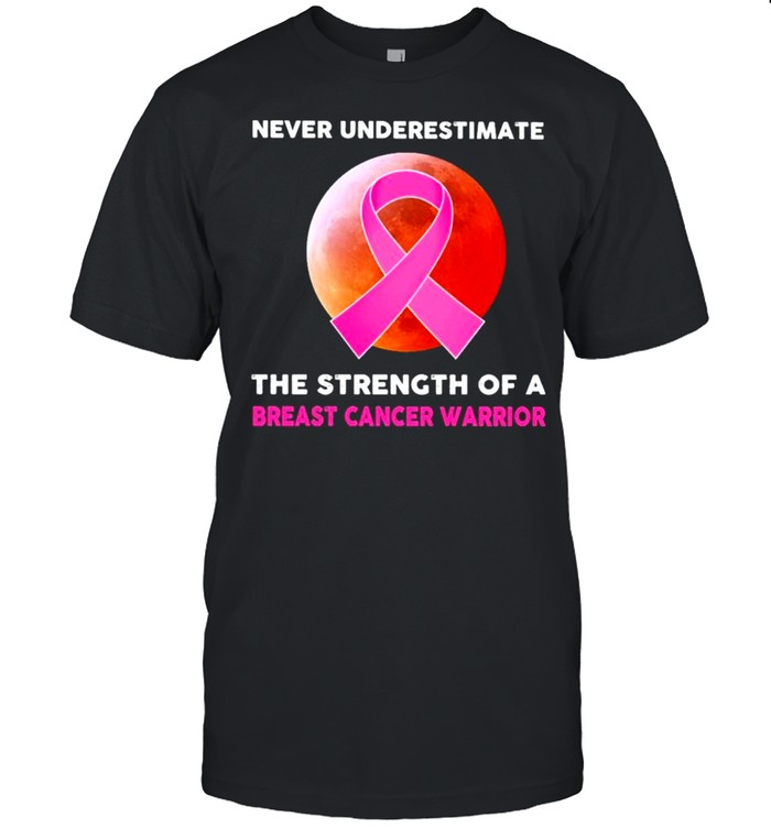 Never underestimate the strength of a Breast Cancer Warrior blood moon shirt Classic Men's T-shirt