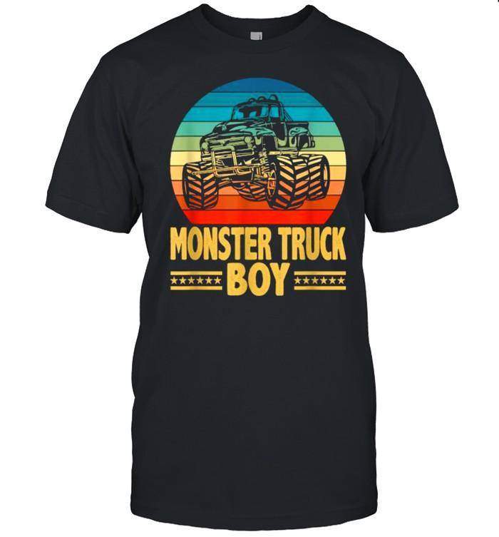 Monster Truck Boy Engines Vintage SUnset T- Classic Men's T-shirt