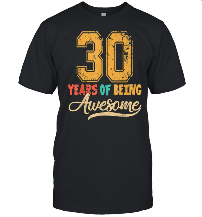 30 Years Old 30th Birthday Her Him Husband Wife shirt Classic Men's T-shirt