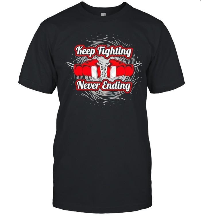 Boxing keep fighting never ending shirt Classic Men's T-shirt