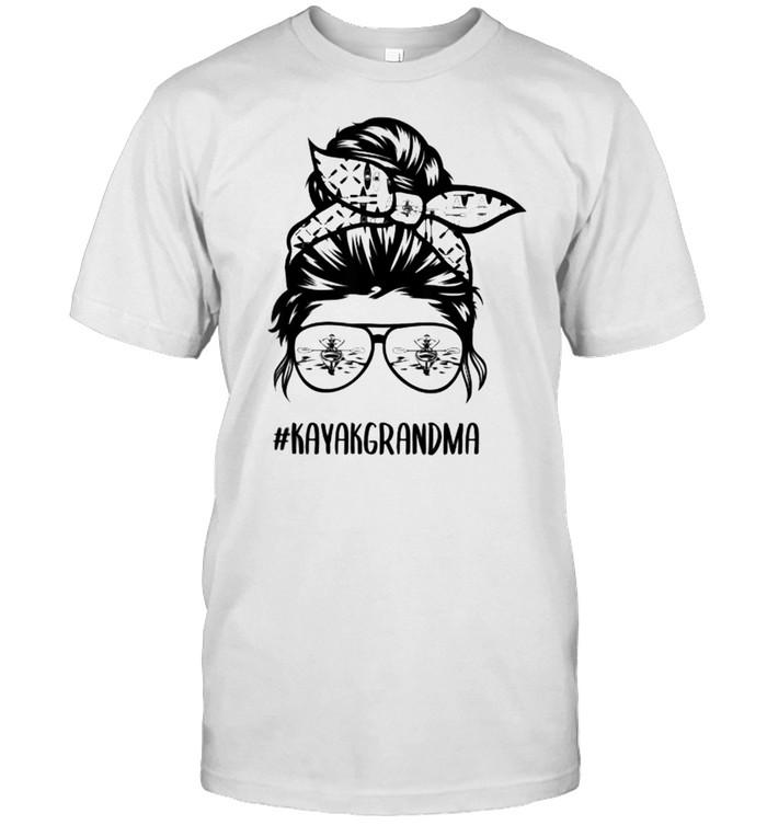 Kayak grandma Messy Bun T- Classic Men's T-shirt