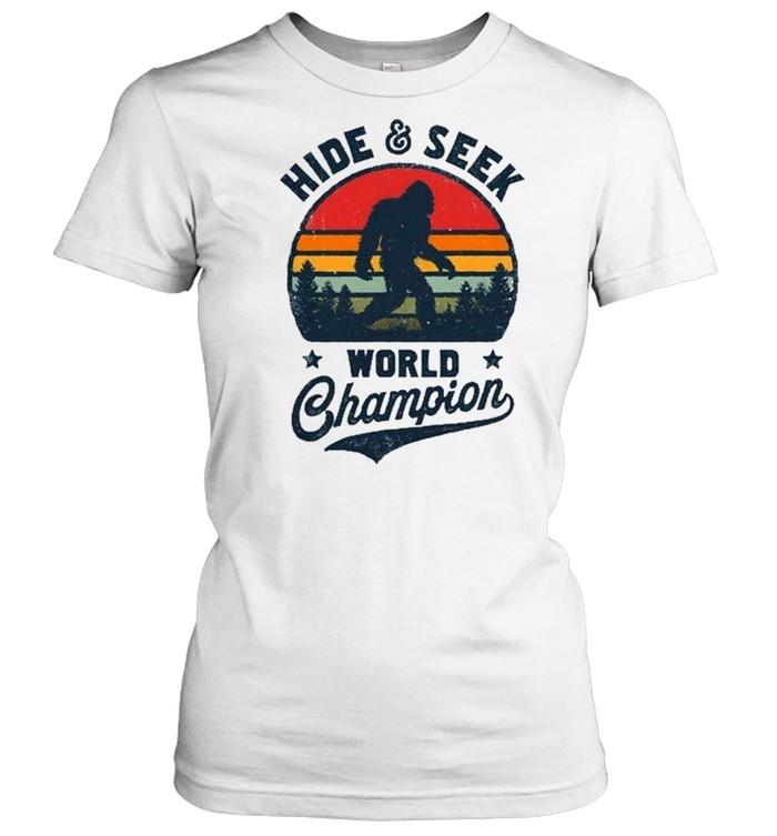 Bigfoot Hide And Seek World Champion Sasquatch Retro Vintage shirt Classic Women's T-shirt