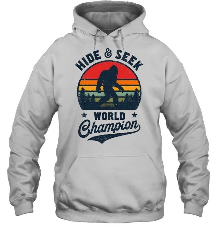 Bigfoot Hide And Seek World Champion Sasquatch Retro Vintage shirt Unisex Hoodie