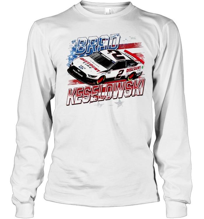 Brad Keselowski Team Penske Old Glory shirt Long Sleeved T-shirt