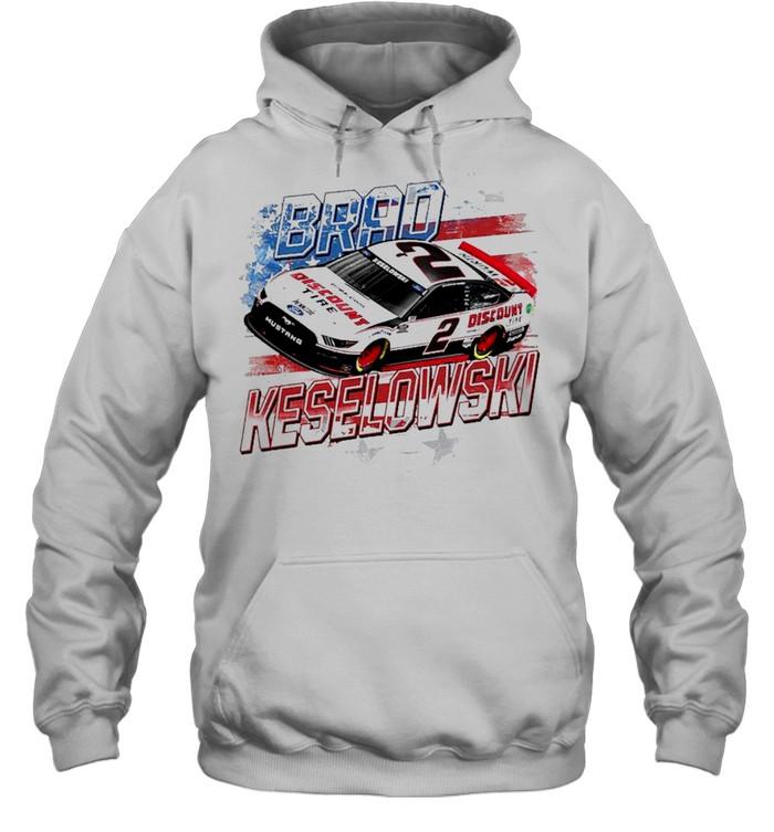 Brad Keselowski Team Penske Old Glory shirt Unisex Hoodie