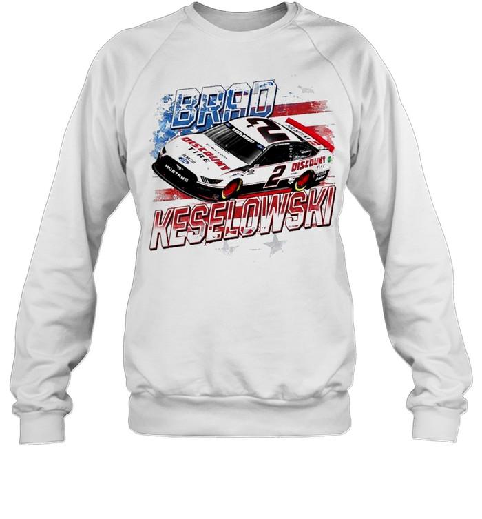 Brad Keselowski Team Penske Old Glory shirt Unisex Sweatshirt