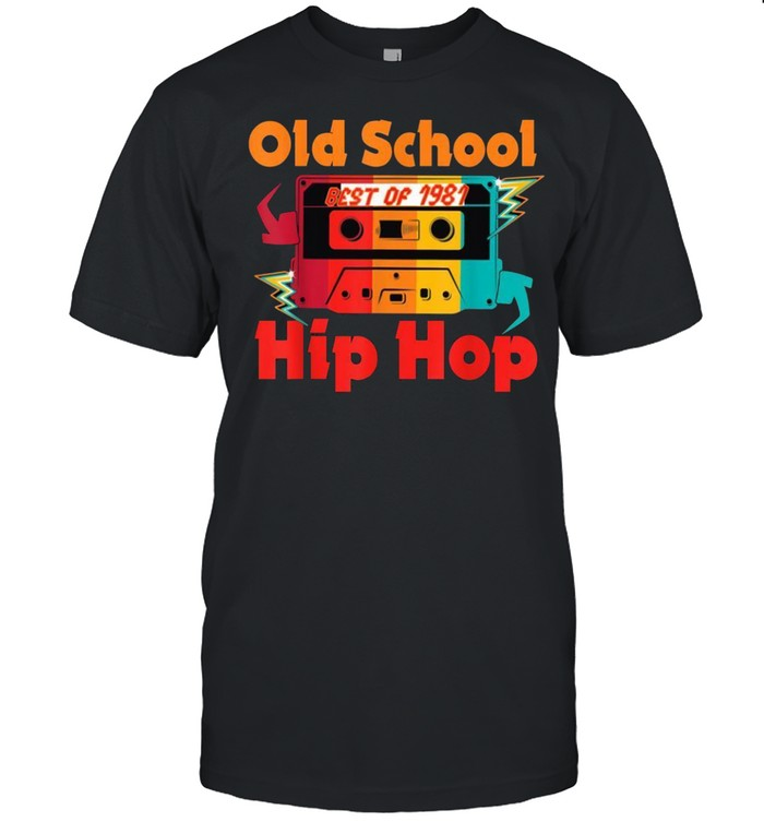 Best Of 1981 Old 80's Hip Hop Mixtape 40th Birthday Forty shirt Classic Men's T-shirt