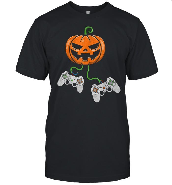 Halloween Video Game Controller Pumpkin shirt