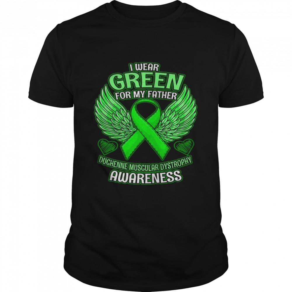 DMD Awareness Father Support Ribbon shirt