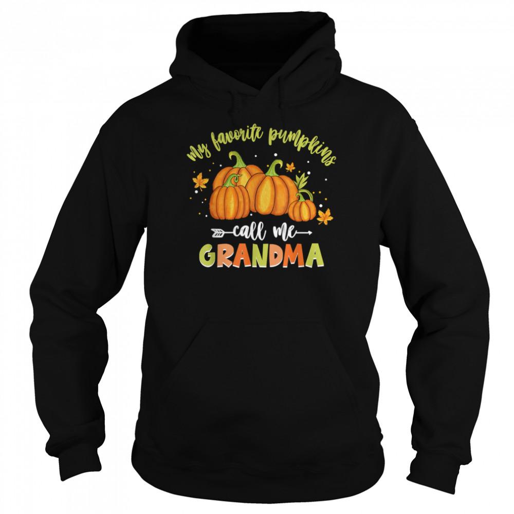 My Favorite Pumpkin Call Me Grandma Vintage Pumpkin Spice shirt Unisex Hoodie