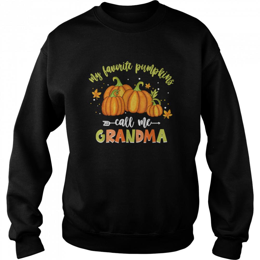 My Favorite Pumpkin Call Me Grandma Vintage Pumpkin Spice shirt Unisex Sweatshirt