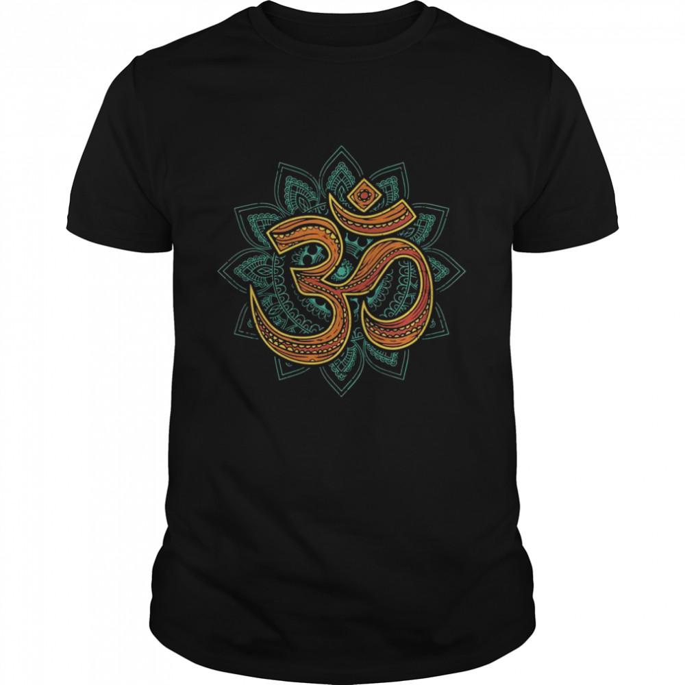 Om Namaste Symbol Yoga Meditation Pose Hamsa Hand shirt